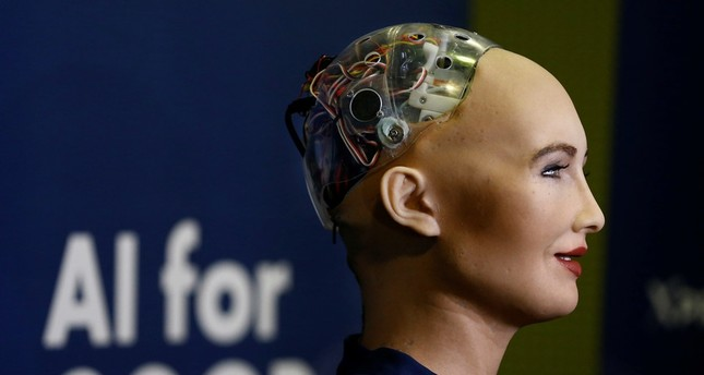 Sophia, the world's first humanoid robot with citizenship, given by Saudi Arabia. Reuters Photo
