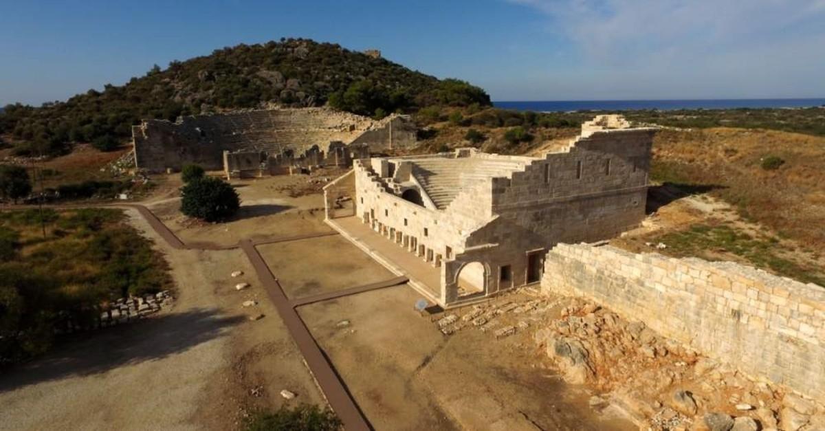 The amphitheater in Patara. (DHA Photo)