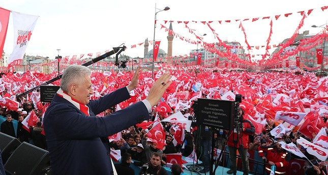 يلدريم: المنظمات الإرهابية اتحدت ضد التعديلات الدستورية في تركيا