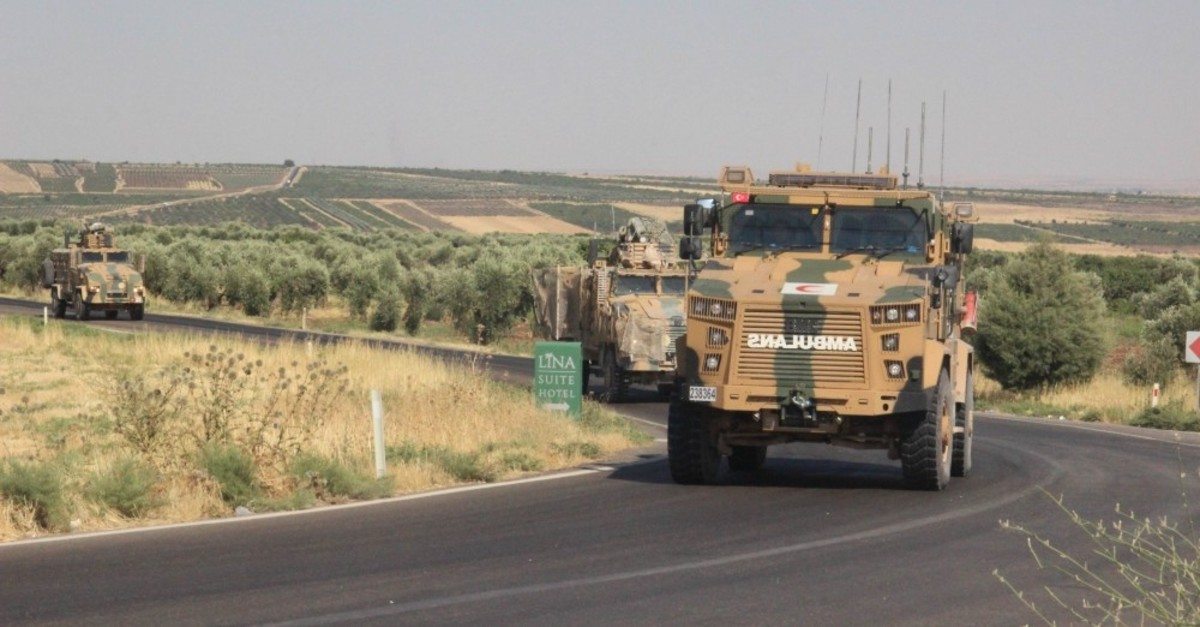 Turkey has delivered a large amount of military support near the Syrian border, including heavy weapons, armored vehicles and tanks, July 10, 2019.