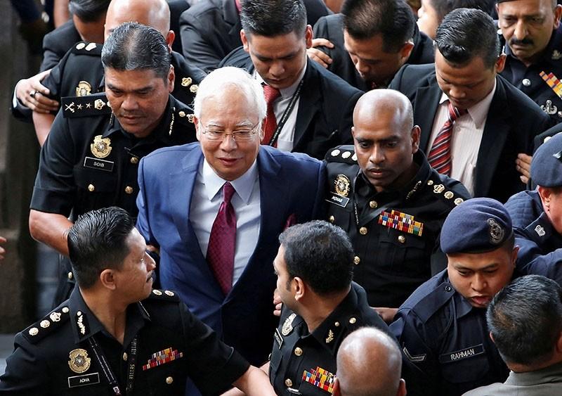 Former Malaysian prime minister Najib Razak arrives in court in Kuala Lumpur, Malaysia July 4, 2018. (Reuters Photo)