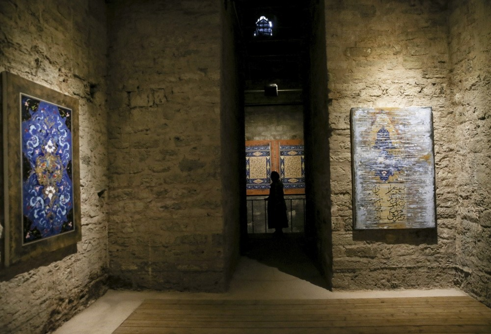 Nuruosmaniye Mosqueu2019s cellar, unused for almost 100 years, has been turned into an exhibition area.