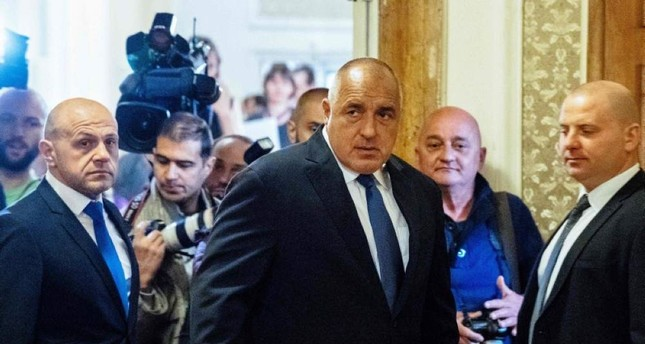 Bulgarian Prime Minister Boyko Borissov C arrives at the first solemn sitting of the 44th National Assembly at the Bulgarian Parliament in Sofia on April 19, 2017. AFP Photo