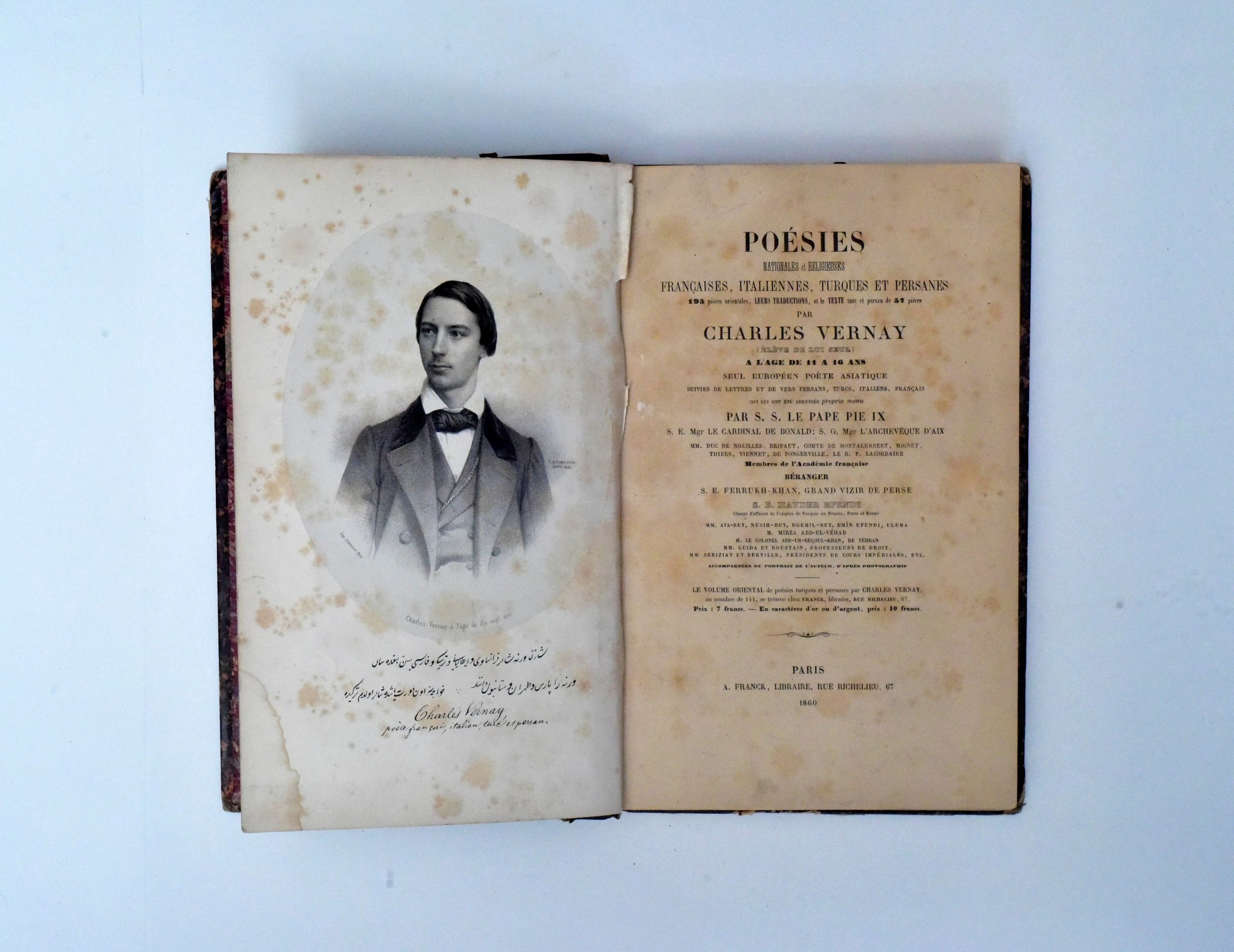 Charles Vernayu2019s poems, published in Paris.