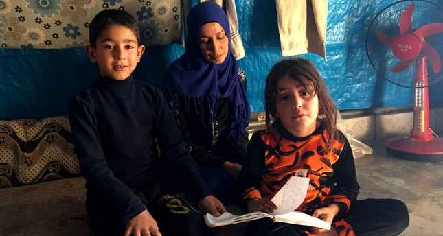 Mariam Sallum, 32, a camp resident in Idlib, says she draws hope from her three children, adding that the area owes its safety to sharing a border with Turkey.