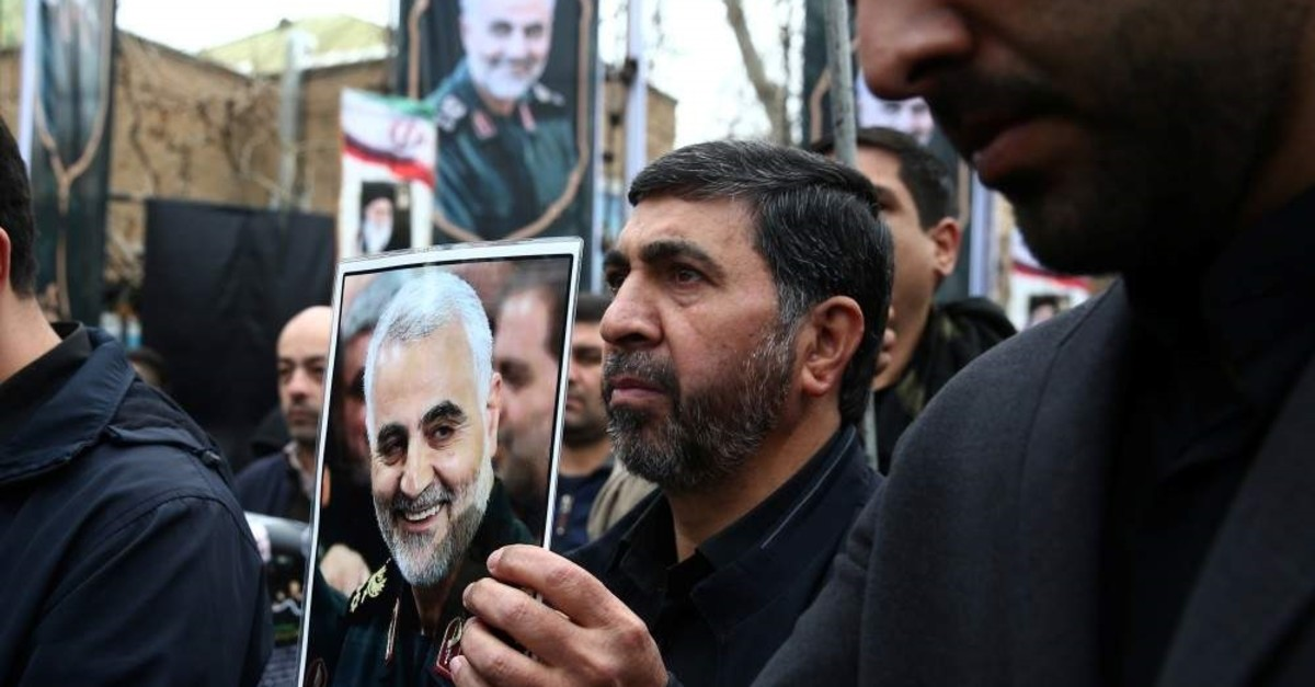 Iranians gather to mourn Gen. Qassem Soleimani, head of the elite Quds Force, who was killed in an air strike at Baghdad airport, in Tehran, Iran, Jan. 4, 2020. (West Asia News Agency via Reuters)