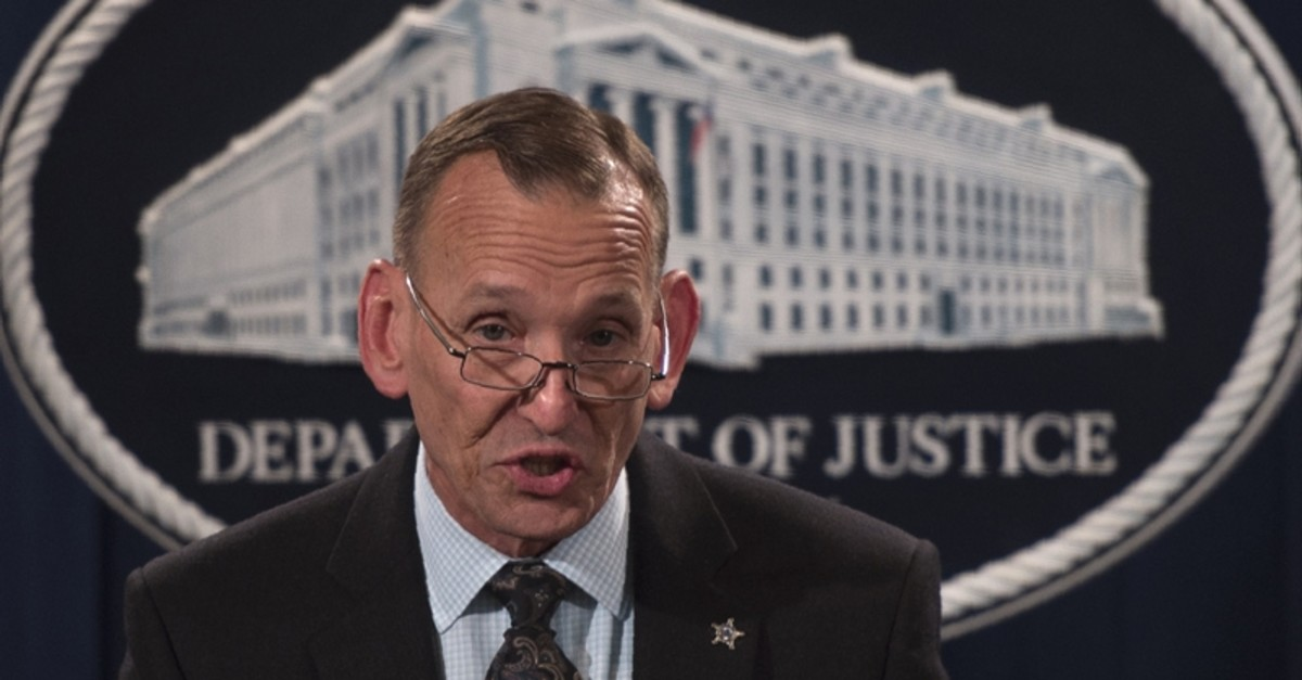 In this file photo taken on October 26, 2018 Director of the U.S. Secret Service Randolph Alles speaks during a press conference at the Department of Justice in Washington, following the arrest of bombing suspect Cesar Sayoc in Florida. (AFP Photo)