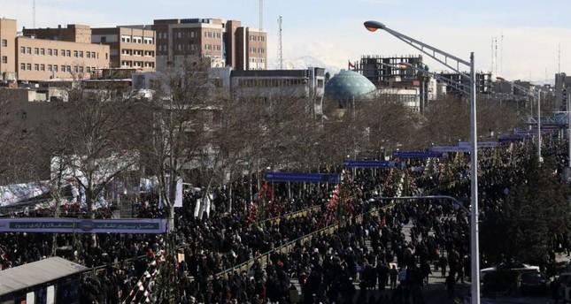 Iranians attend an annual rally at Azadi Freedom Street, celebrating the 41st anniversary of Iran's revolution, Tehran, Iran, Feb. 11, 2020. AP Photo