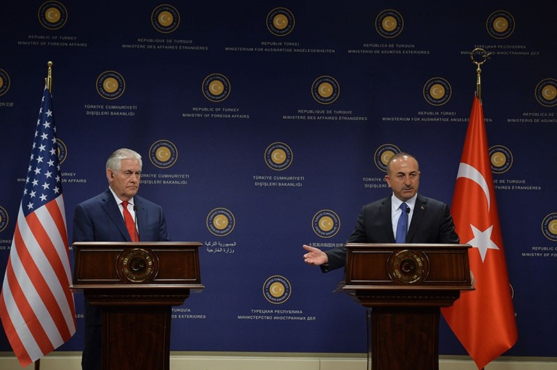 Foreign Minister u00c7avuu015fou011flu at a joint news conference with U.S. Secretary of State Rex Tillerson in this file photo from March 3, 2017 (AA Photo)
