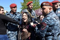 Armenian opposition leader announces 'velvet revolution' amid protests