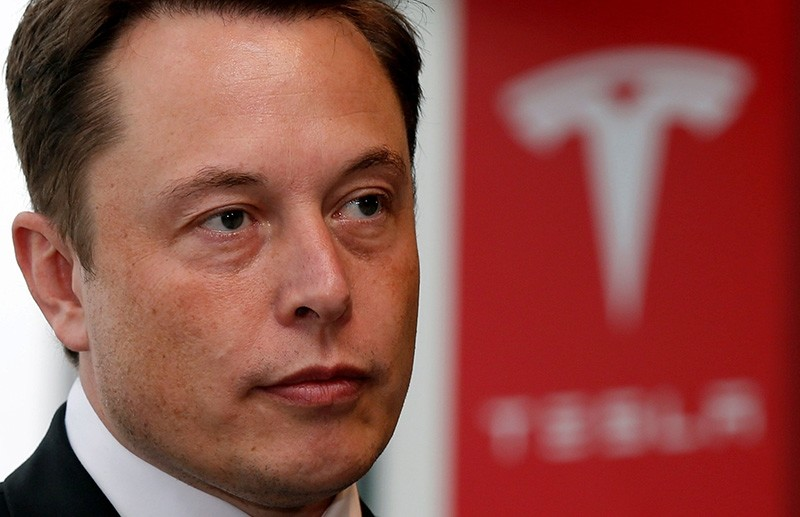 Tesla Motors Inc Chief Executive Elon Musk pauses during a news conference in Tokyo Sept. 8, 2014. (Reuters Photo)