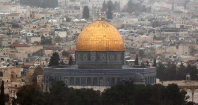 A general view of Jerusalem shows the Dome of the Rock, located in Jerusalem's Old City on the compound known to Muslims as Noble Sanctuary and to Jews as Temple Mount, December 6, 2017. (Reuters Photo)