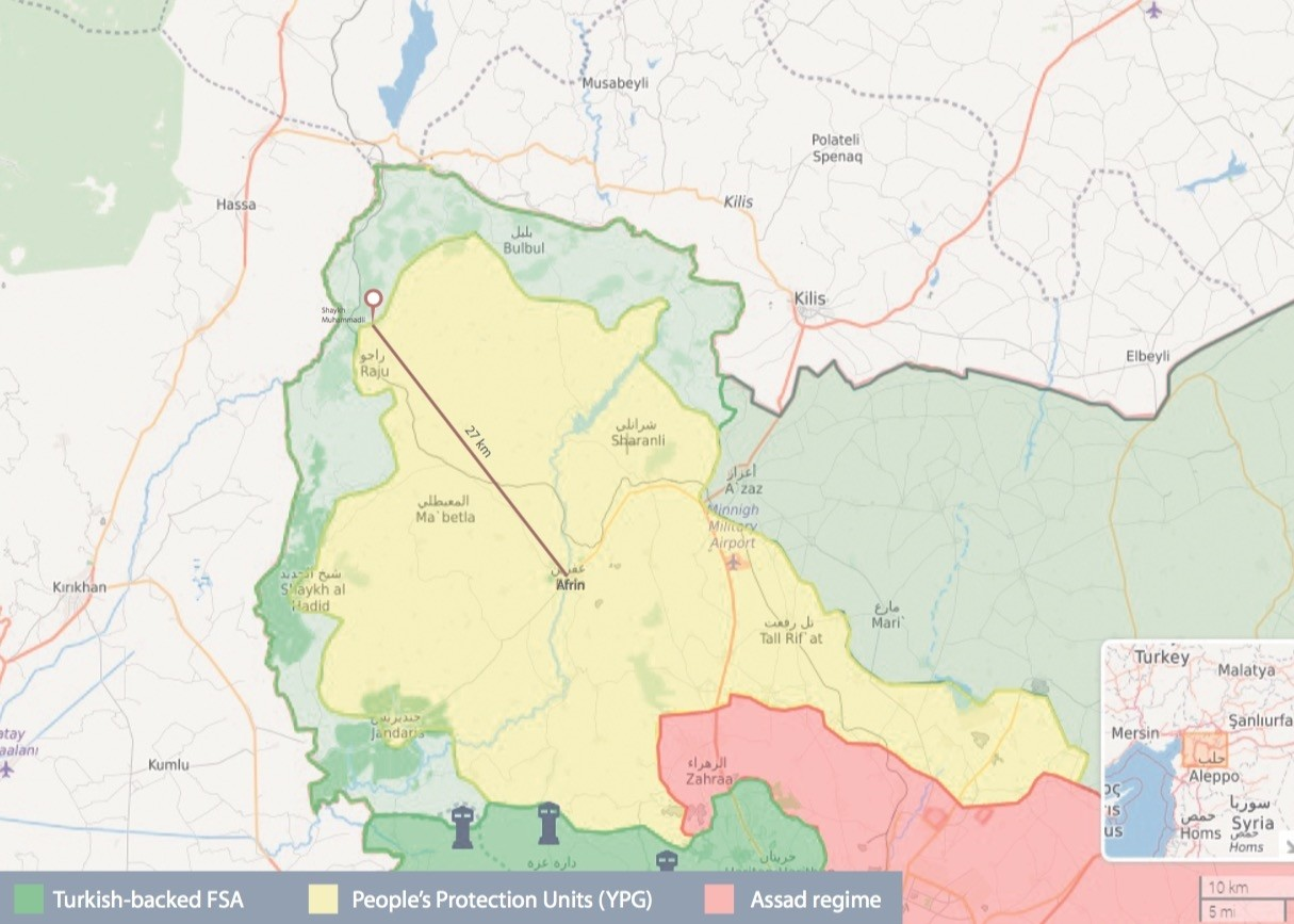 The Turkish military and FSA forces liberated Shaykh Muhammadli in northwestern Afrin.