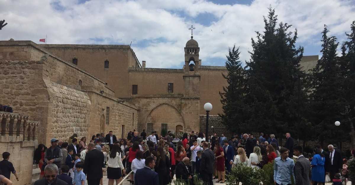 Easter was celebrated by the Assyrian community at Ku0131rklar Church in southern Mardin province, April 28, 2019.