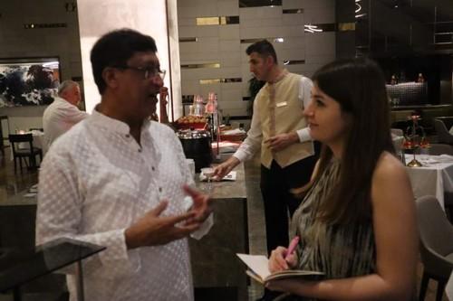 Indian Ambassador Sanjay Bhattacharyya and Daily Sabah's Dilara Aslan in Ankara, 21 Oct. 2019.