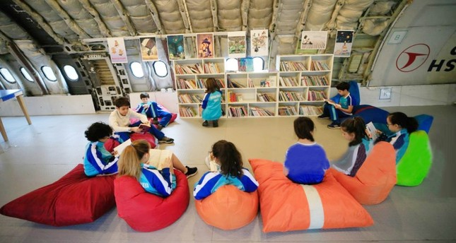 Retired plane turned into fun classroom for students