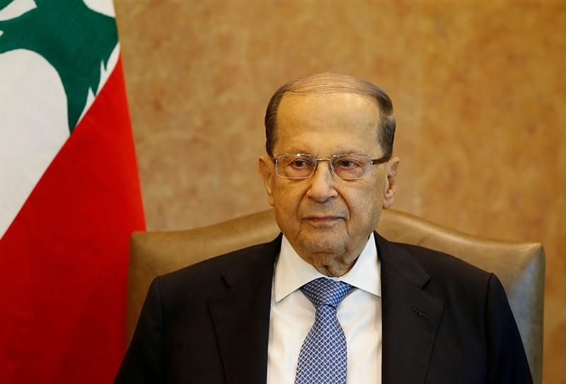 Lebanon's President Michel Aoun is seen at the presidential palace in Baabda, Lebanon, November 7, 2017. (Reuters Photo)