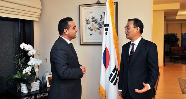 Daily Sabah's Ali Ünal (Left) with Korean Ambassador to Ankara Mr. Yunsoo Cho (Right)