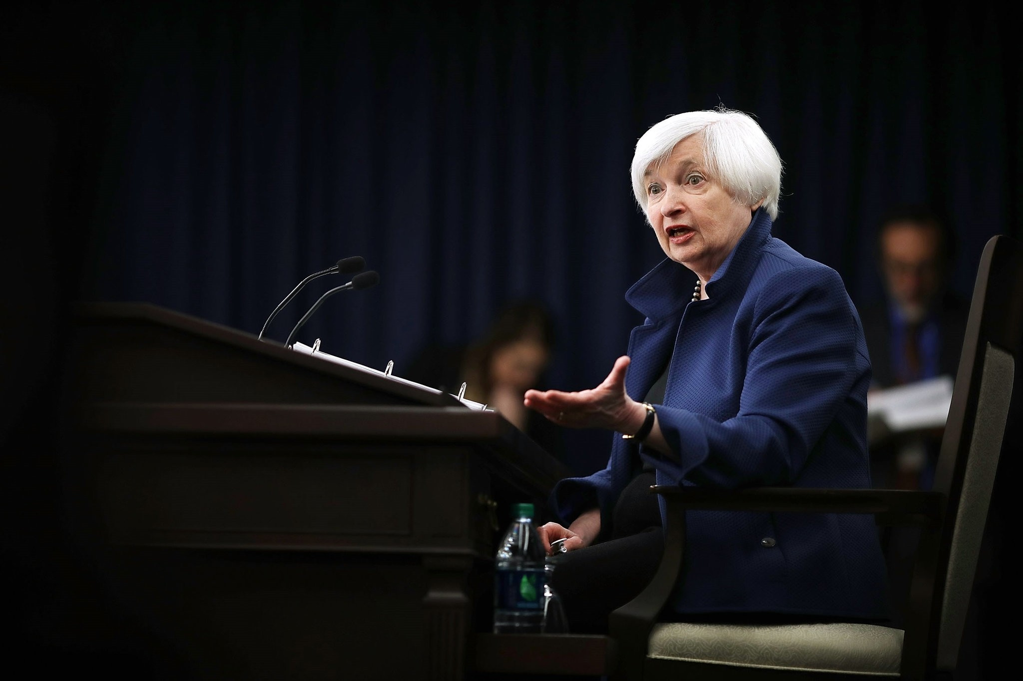 Federal Reserve Board Chairwoman Janet Yellen holds a news conference following a meeting of the Federal Open Market Committee March 15, 2017 in Washington, DC. (AFP Photo)