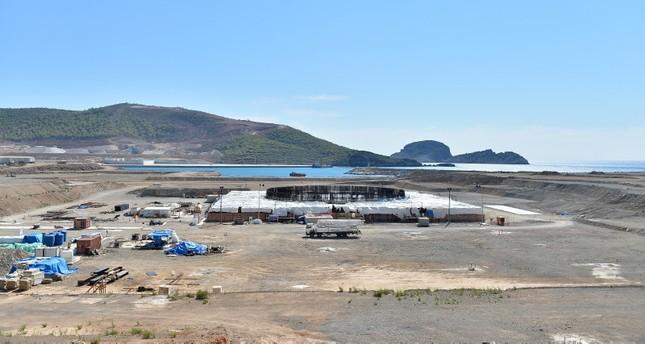 محطة آق قويو للطاقة النووية قيد الإنشاء في ولاية مرسين جنوبي تركيا