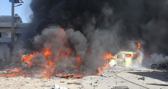"""مقتل 3 من """"ي ب ك"""" الإرهابية بانفجار سيارة مفخخة شرقي سوريا"""