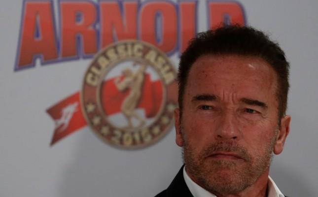 Schwarzenegger in Hong Kong for new sports festival