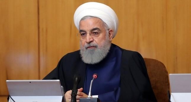الرئيس الإيراني حسن روحاني خلال ترأسه اجتماع للحكومة 8 مايو 2019 (مكتب الرئاسة الإيرانية)