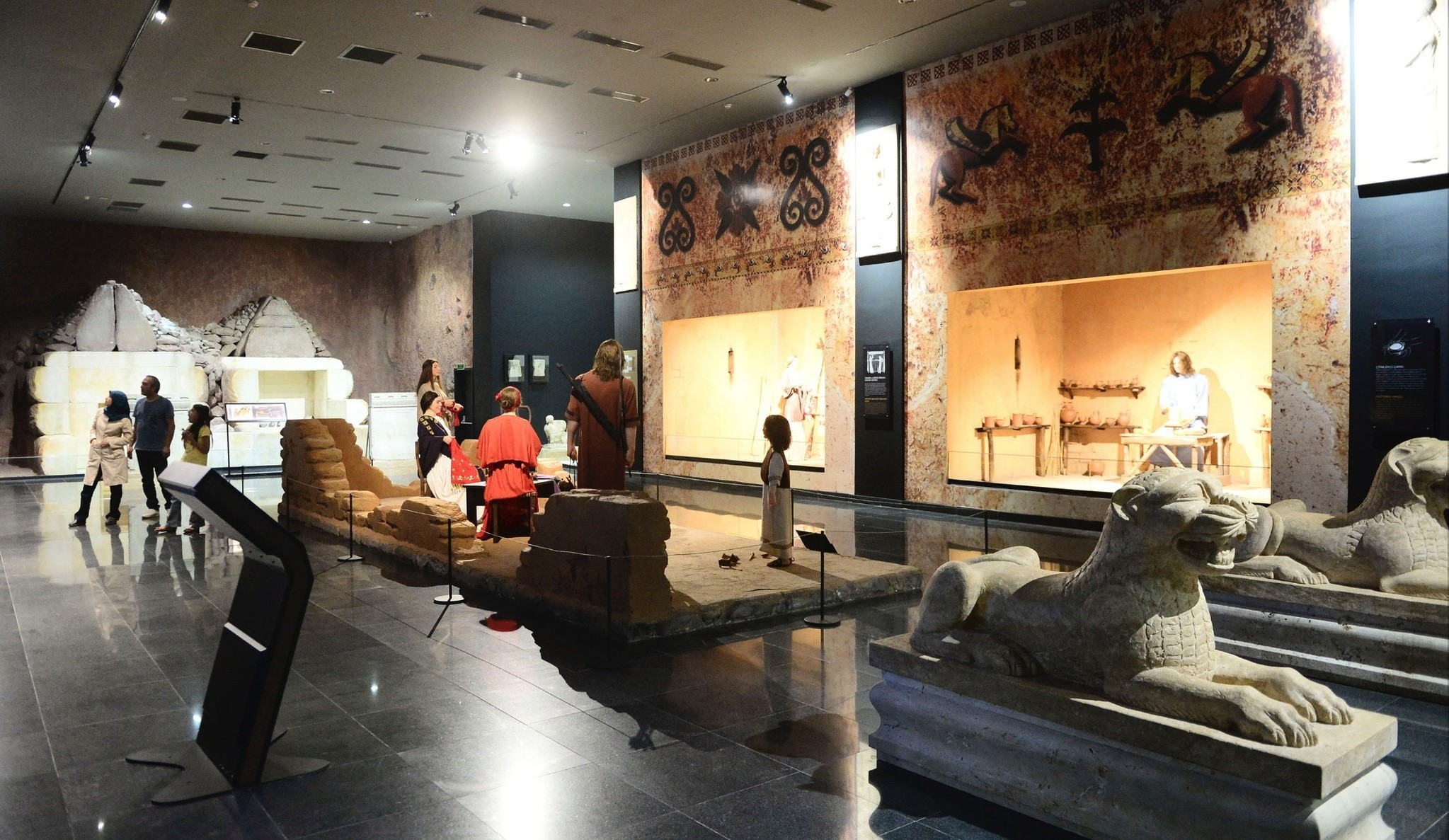 Pieces of the priceless collection of the Lydian King Croesus are displayed at the Uu015fak Archaeology Museum.