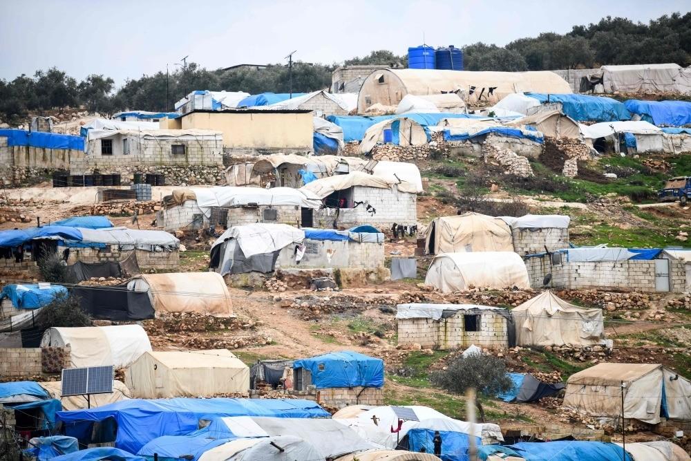 A camp for displaced Syrians near Dayr Ballut, Aleppo, Syria, Jan. 2.