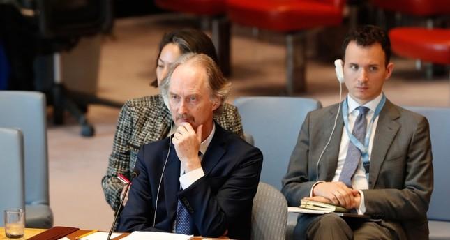 مبعوث الأمم المتحدة إلى سوريا في مجلس الأمن الدولي أمس الفرنسية