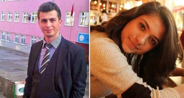 Necmettin Yılmaz (L), 32, Teacher, killed by the PKK on July 15, 2017. Aybüke Yalçın, 22, Teacher, killed by the PKK on June 11, 2017.