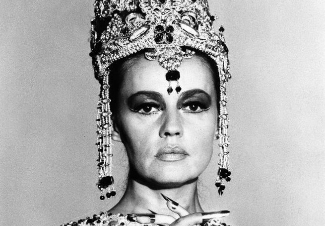 """French actress Jeanne Moreau is seen in her role as """"Mata Hari, Agent H-21,"""" in Paris."""