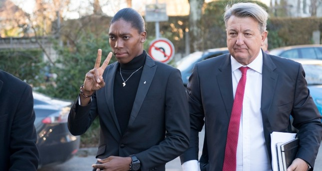 In this Feb. 18, 2019, file photo, Caster Semenya her lawyer Gregory Nott, right, arrive for the first day of a hearing at the international Court of Arbitration for Sport, CAS, in Lausanne, Switzerland. (AP Photo)