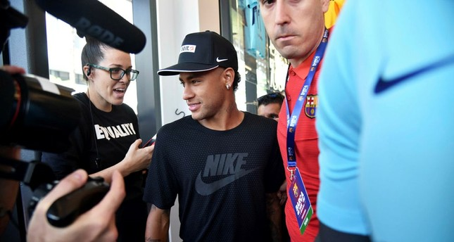 The Photo Taken On July   In Miami Shows Then Barcelonas Brazilian Forward Neymar