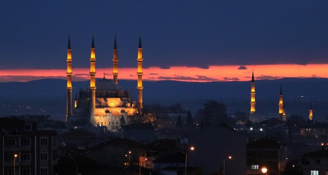 The historic Selimiye Mosque in western Turkey's Edirne.