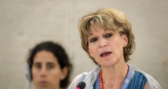المقررة الأممية أغنيس كالامار في الجلسة الـ 41 لمجلس حقوق الإنسان (الفرنسية)