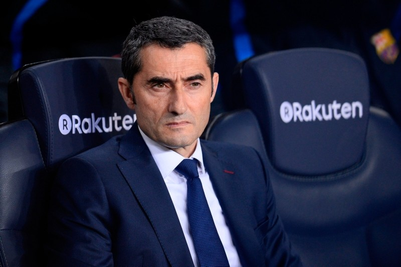 Barcelona's Spanish coach Ernesto Valverde attends the Spanish league football match between Barcelona and Leganes at the Camp Nou stadium in Barcelona on April 7, 2018. (AFP Photo)