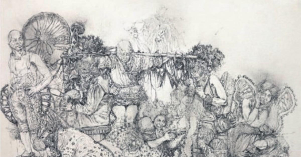 Arshak Sarkissian, u201cUntitled,u201d 2010, ink on paper, 57x77 cm.