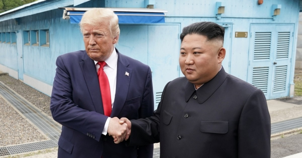 U.S. President Donald Trump meets with North Korean leader Kim Jong Un at the demilitarized zone separating the two Koreas. (Reuters Photo)