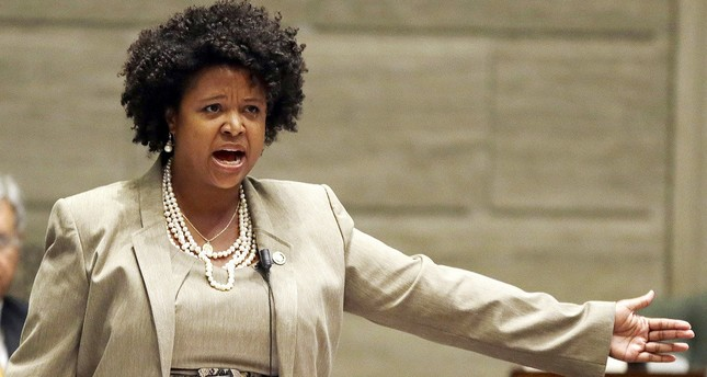 Missouri state Sen. Maria Chappelle-Nadal speaks on the Senate floor in Jefferson City, Mo., in 2014. (AP Photo)