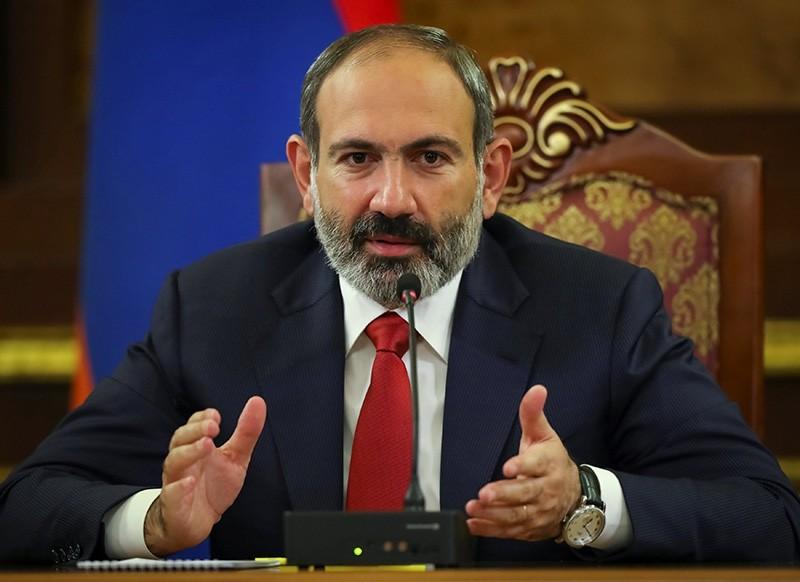 Armenian acting Prime Minister Nikol Pashinian speaks at news briefing in Yerevan, Armenia Dec. 10, 2018. (Reuters Photo)