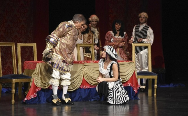 A scene from the play The Bourgeois Gentleman.