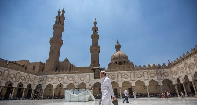 Muslims attend Friday prayers in Al-Azhar mosque, in Islamic Cairo, one of the oldest mosques in the country and an attraction for many students and scholars interested in Islam, in Cairo, Egypt. AP Photo