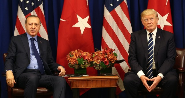 President Erdoğan and U.S. President Trump during a news conference on Turkish-U.S. bilateral ties, at the White House, Sept. 21, 2017.