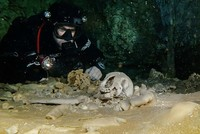Fossils, Mayan relics found in giant underwater cave in Mexico