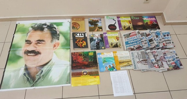 PKK terrorist propaganda material seized during the operations in İzmir DHA Photo