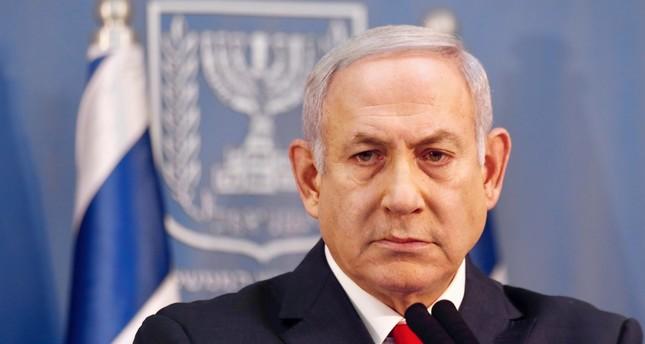 Israeli Prime Minister Benjamin Netanyahu delivers a statement, Tel Aviv, Nov. 18.