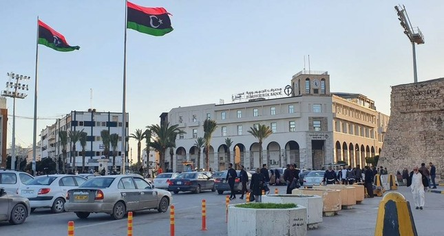 A picture taken on Jan. 20, 2020, shows a view of Martyr's square in the Libyan capital Tripoli. AFP Photo