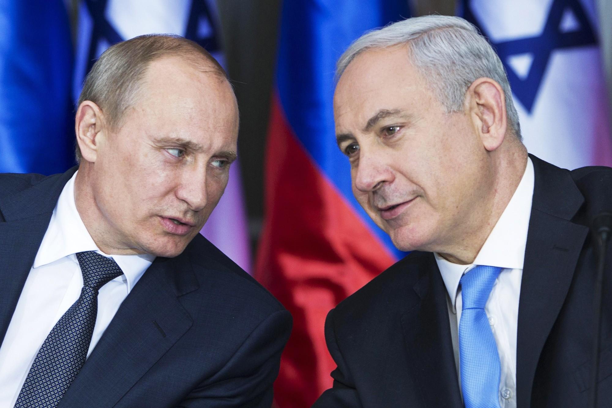 Russian President Vladimir Putin and Israeli Prime Minister Benjamin Netanyahu.