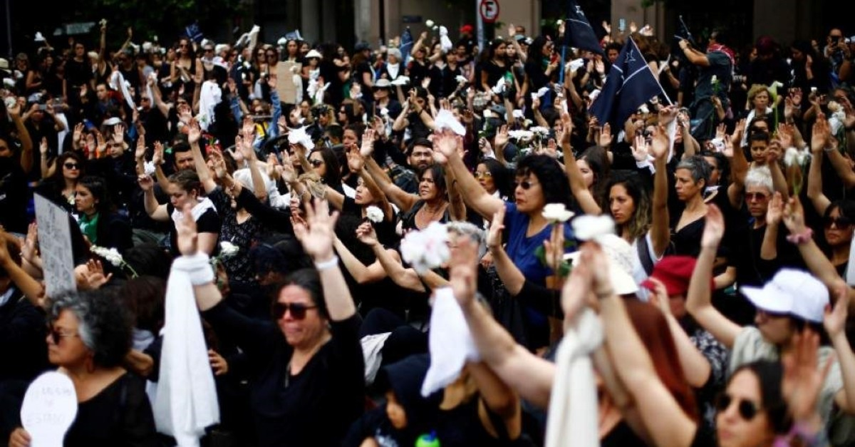 People participate in a demonstration to pay tribute to people killed during the protests against Chile's government, in Santiago, Chile November 1, 2019. (Reuters Photo)